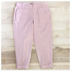 LANY BRYANT THE LENA BLUSH PINK CUFFED TROUSER